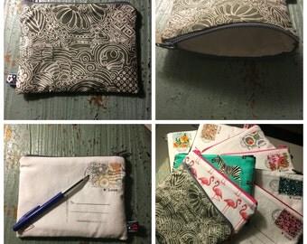 Personal postcard zipper pouch-cosmetic case-make up case-etui-gift idea-present