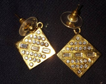 Gold plated crystal earrings