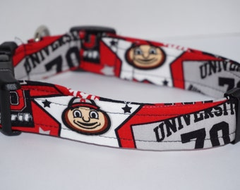 Buckeyes Ohio State Dog Collar