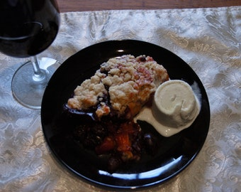 Peach and Cherry Cobbler