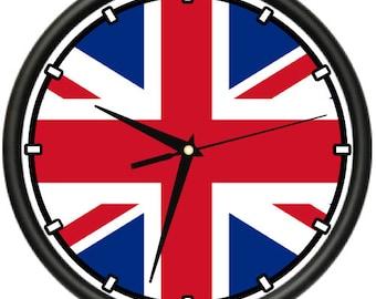British Flag Wall Clock Uk Union Jack Nation Country Gift