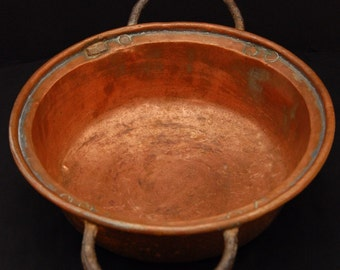 French Antique Copper marmite