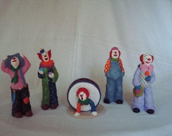 Pecan Resin Clowns