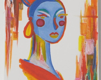 The woman with earrings