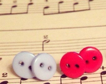 Cute as a button earrings - various colours