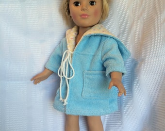 Blue/yellow cover up with pockets for 18 inch doll