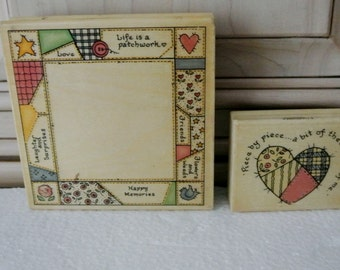 Set of two patchwork stamps