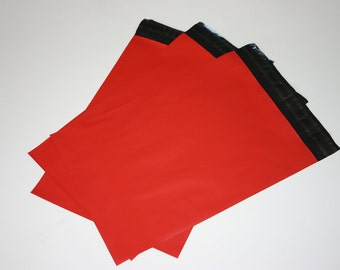 50 9x12 Poly Mailers Red Self Sealing Envelopes Shipping Bags Christmas Valentine's Mother's Day