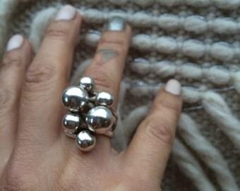 Sterling Ball Ring