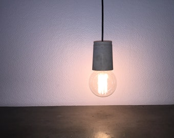 Lamp suspension concrete