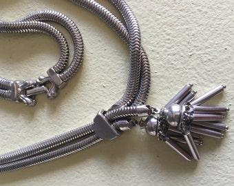 Vintage Tassel Necklace  - Costume Jewelry