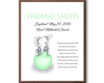 Baptism Gift From Godparents, Baptism Gift Art, Dedication Gift, Godchild Christening Gifts