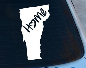 Vermont Decal - State Decal - Home Decal - VT Sticker - Love - Laptop - Macbook - Car Decal