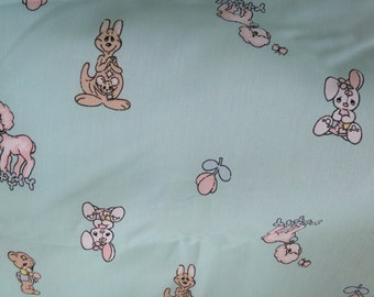 Very rare Precious Moments Fabric featuring beloved Precious Moments characters, cartoon fabric,novelty, collectors fabric