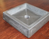 Shallow Concrete Vessel Sink