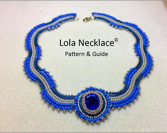 Beading patterns and tutorials, beading patterns instructions, beaded necklace pattern, herringbone necklace, beaded pendant tutorial, DIY