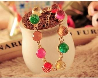 Bohemian Multicolor Bead Bracelet