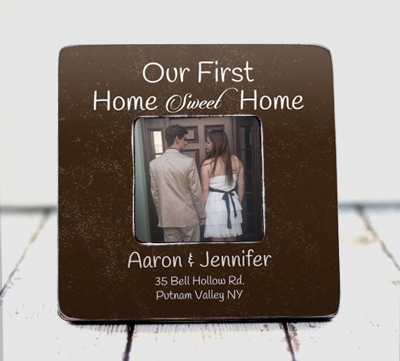 Our First Home Frame Housewarming Gift By Thepictureframeshop
