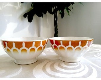Vintage French Ceramic Bowls from the 20's