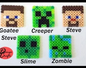 Minecraft Perler Badges Magnets