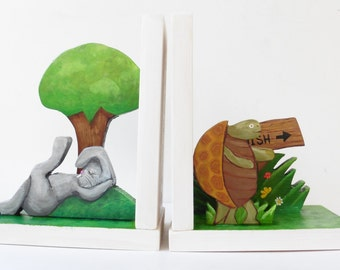Tortoise and Hare Bookends