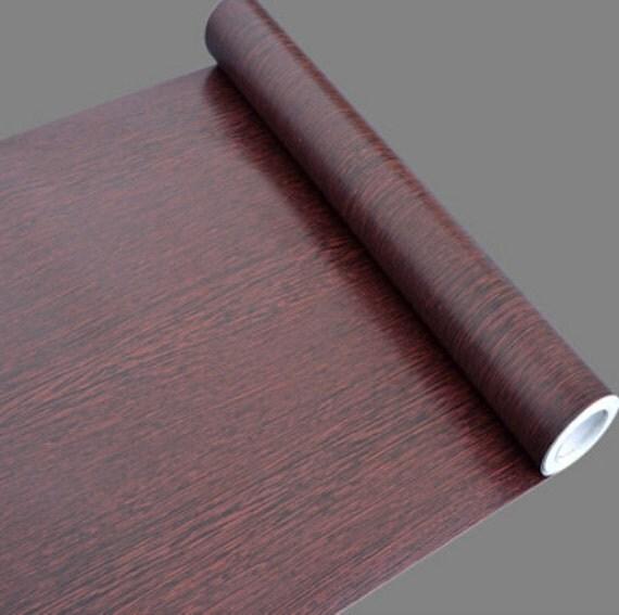 Rosewood Wood Grain Contact Paper Shelf Liner Self-Adhesive from