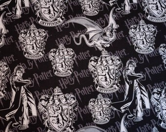 Harry Potter Gryffindor Fabric - 100% Cotton Fabric - 1 yard