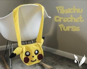 Pokemon Fan Art Pikachu Crochet Girls Purse.