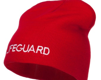 Lifeguard Embroidered Short Beanie