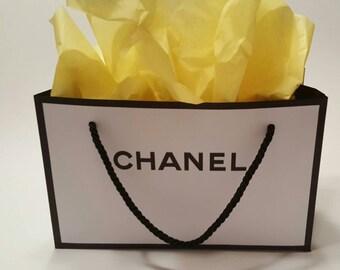 Designer inspired paper gift bag party favor
