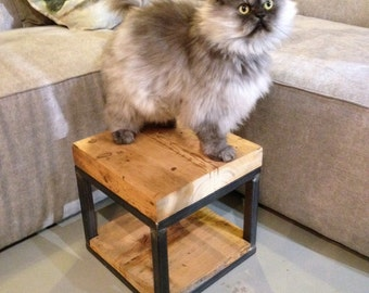 reclaimed barnwood stool