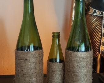 Green Roped Bottles