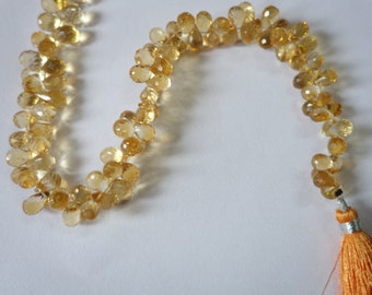 Citrine Faceted  Drops