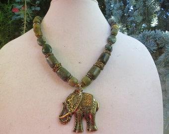 Golden elephant blessing./Free shipping/.