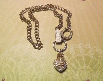Vintage Juicy Couture Rhinestone Heart necklace
