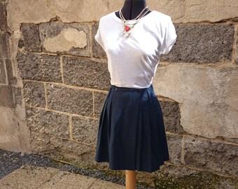 Navy blue vintage skirt pleated Bad Prince