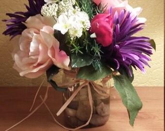 Artifical Floral Arrangement set in still water