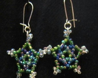 Seed Bead Star Earrings