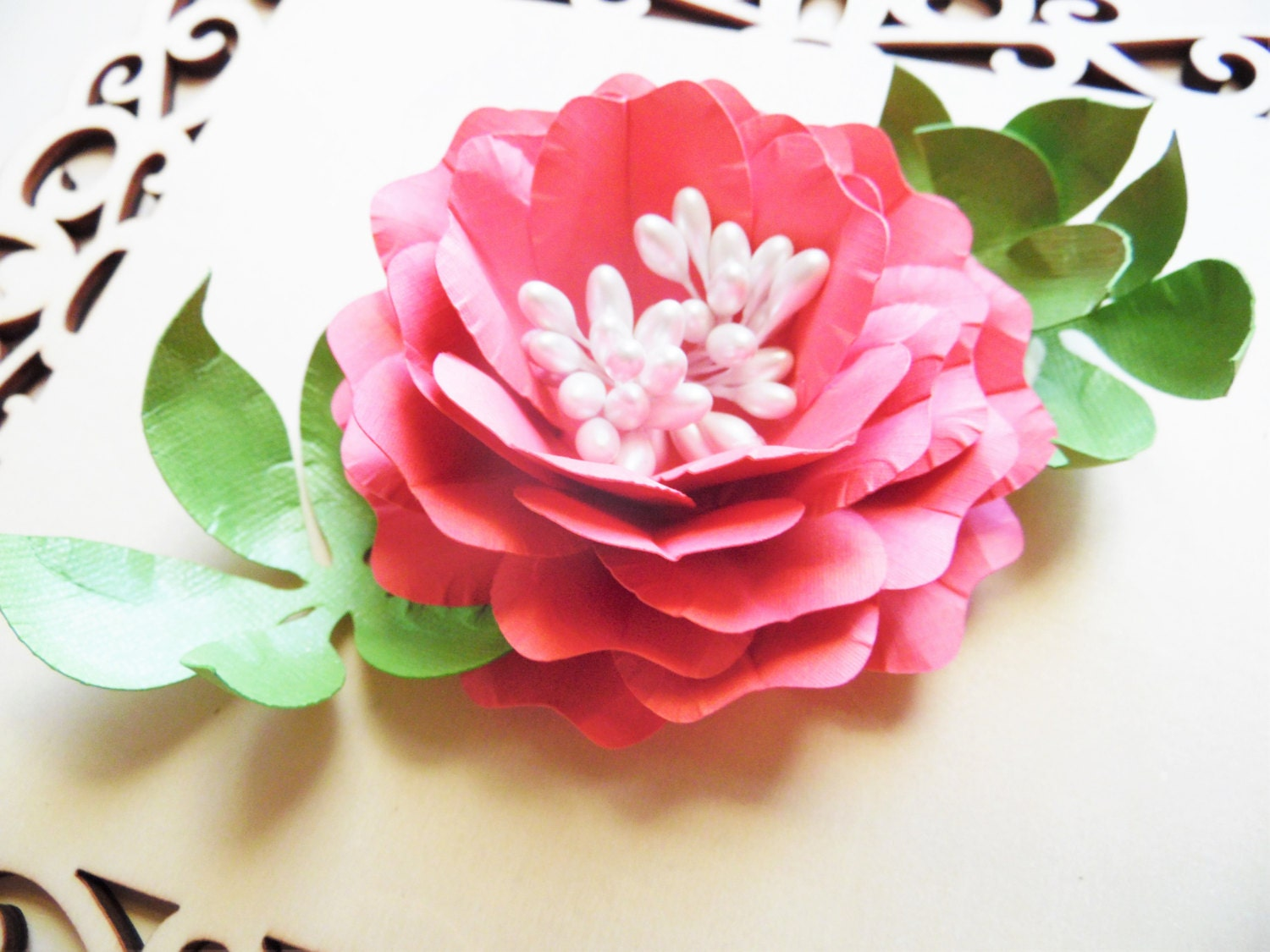 DIY Paper Rose Templates- Paper Flower Bouquet- Paper flower ...
