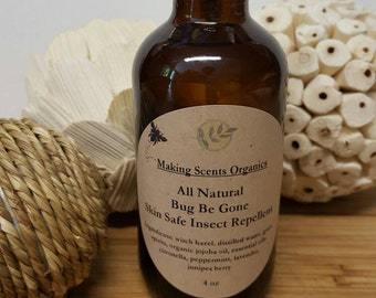 All natural bug repellent for mosquitoes black flies and ticks. Made in Vermont by Making Scents Organics