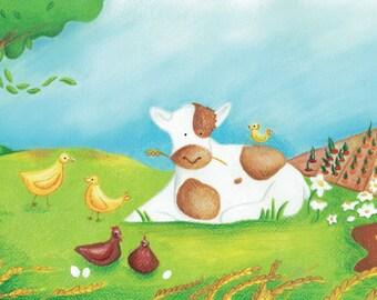 Farm theme illustration