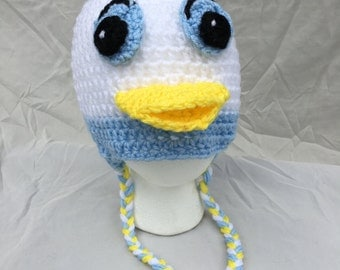 Donald Duck hat, Donald Duck, Crochet Donald Duck, Hat, Donald Duck Photo Prop, Kids Hat, Adult Hat, Crochet, Donald Duck, beanie baby duck