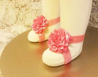 Handmade Baby Barefoot Flower Sandals