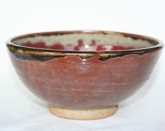 Red Ceramic Cereal/Serving Bowl