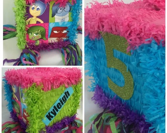Inside Out Pinata Sale!!! Customize Name & Age FREE Available as Pull Strings of Traditional Whack Pinata