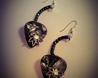 Guitar pick earrings