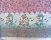 Precious Moments Fabric Goose Girl single border, Flowers, Bows