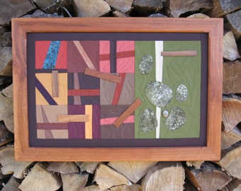 Art Quilt in Cherry Frame by pam beal & wayne walma