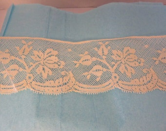 Lace Edging French Cotton Lace Ecru Vintage