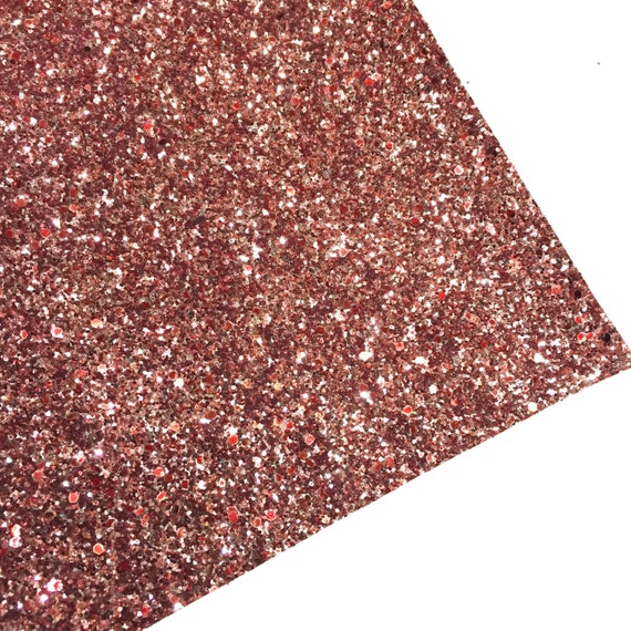 chunky glitter fabric material rose gold by fabridasher on
